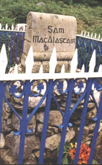 Sam Macalastair Gravestone