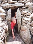 Richard Marsh returning from a visit to the Otherworld through the sidhe mound at Seefin, County Wicklow